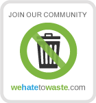 Join the We Hate To Waste community!